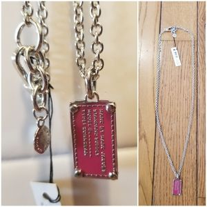Marc By Marc Jacobs long dog tag necklace NWT